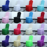 Wholesale cheap good elastic spandex wedding decoration chair covers for dining room