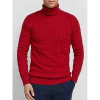 Classic fashion oem service men basic sweater high neck knit sweater men