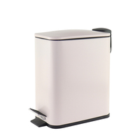 Rectangle small trash can metal pedal stainless steel trash bin kitchen bin 5L 20L hotel room office