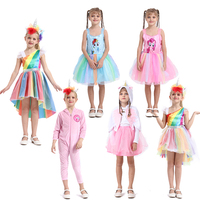 Wholesale Unicorn costume fancy dress carnival party dress up for kids girls,girls kids unicorn cosplay