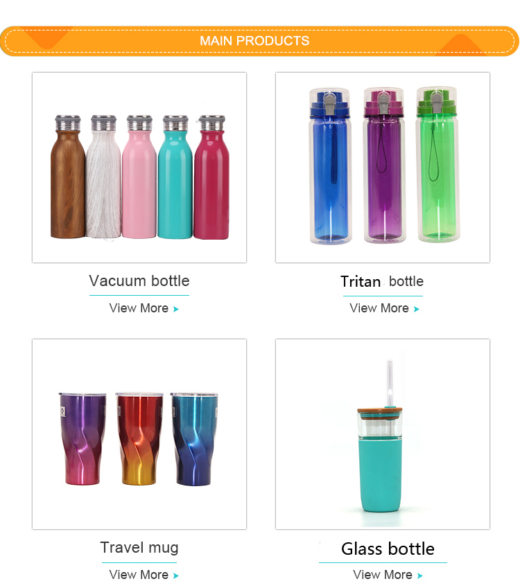 Lebar Mulut Vacuum Insulated 18/8 Stainless Steel Botol Air Powder Coating Gradien Botol Air