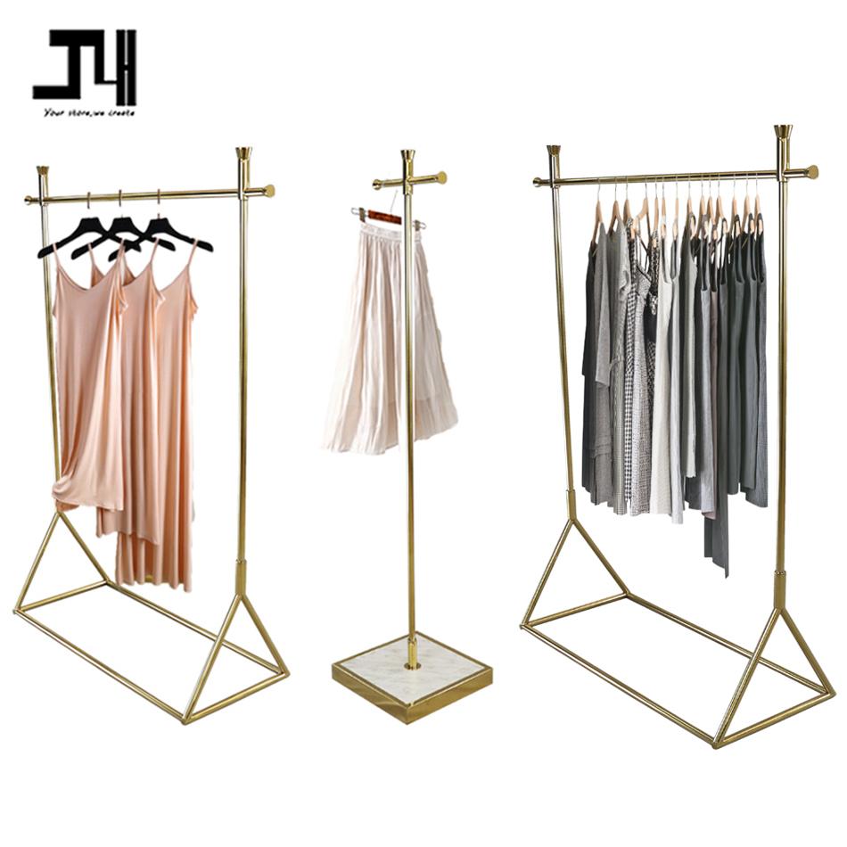 Магазин одежды из бутика, металлический передвижной портативный примерочная класса люкс для переодевания подвижные Золотой гардеробная со шторкой