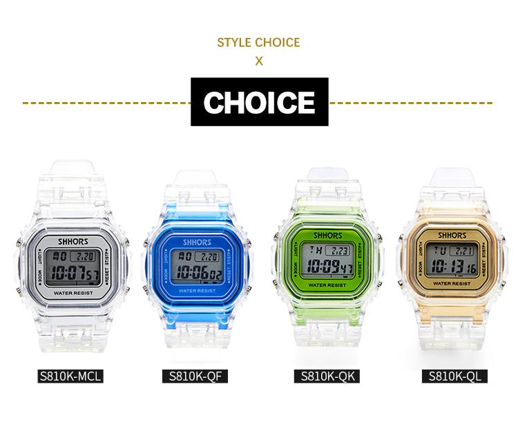 718T Shhors Watch New fashion  Digital Alarm Chronograph Watch Electronic Watch for Sport