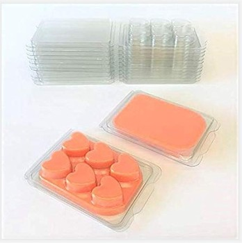Vacuum Formed Blister Heart Shape Clamshell Wax Melt Tray