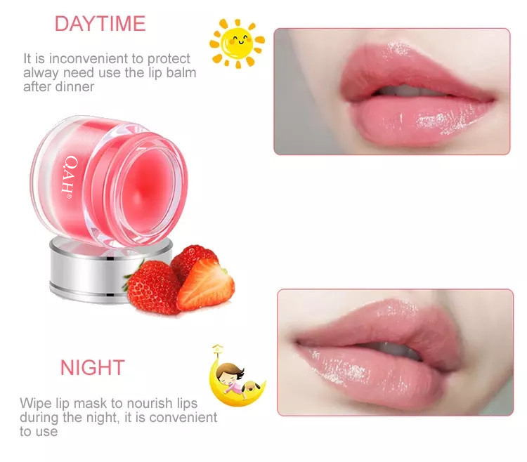 Hot Sale OEM  Rose Cherry Hydrating Lip Care Mask Natural Organic Night Sleeping Lip Mask