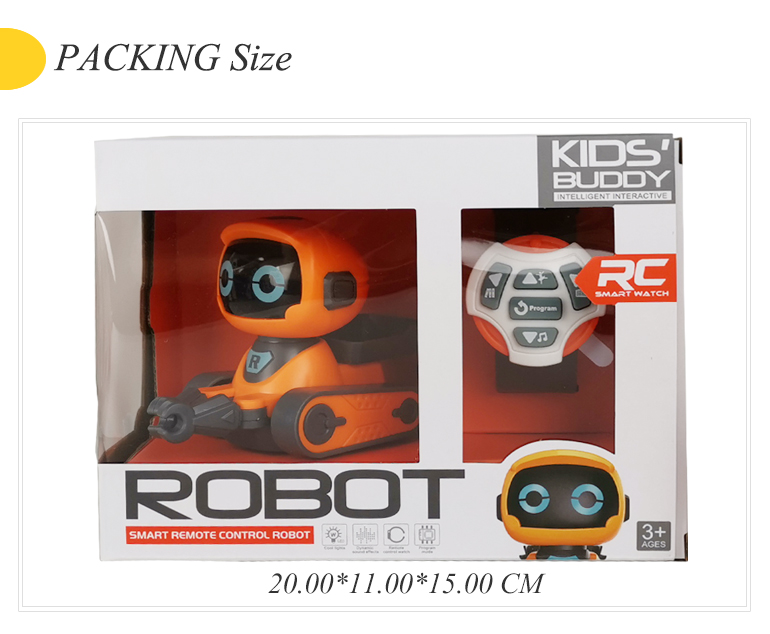 Cute intelligent toy RC control walking smart watch robot