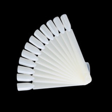 12 шт. накладные ногти Советы вентилятор природа для украшения ногтей, круглые полное покрытие дисплея инструменты для практики поддельные ...(Китай)