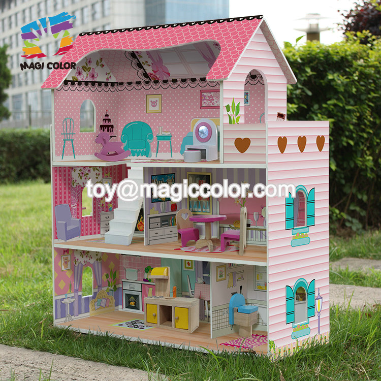 Most popular wooden doll house furniture for toddlers W06A380B