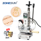 ZONESUN ZS110 Manual Workbench Digital Hot Foil Stamping Machine Leather Embossing Bronzing Tool Wood PVC Paper DIY Press