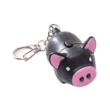 Voice Piggy Key Link Cartoon Keychain For Customizable