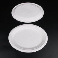 Round Disposable Plates Natural Kraft paper Compostable Eco Friendly Environmental paper plate