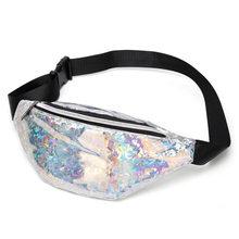 Поясная Сумка для женщин, голографическая поясная сумка для женщин с ремнем на бедрах(Китай)