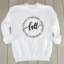 Осенняя Женская толстовка эстетические тыквы Hayrides пуловер костры Падающие листья девушка Джемперы уличная мягкая одежда Прямая поставка(Китай)