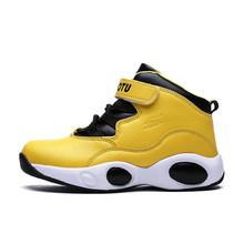 Уличные спортивные детские кроссовки, новый стиль, Баскетбольная обувь для мальчиков, противоскользящая обувь, кроссовки для детей, спорти...(Китай)
