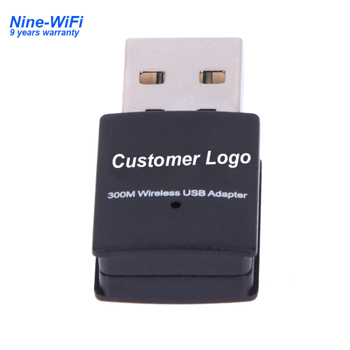 300Mbps Realtek 8192 inalámbrico Mini USB Router WiFi adaptador