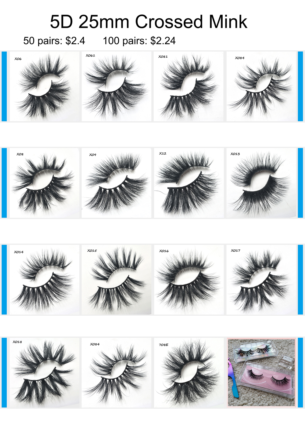 Natural distributors free samples custom packaging 3d mink eyelashes Vendor hot sale strip mink 3d eyelashes