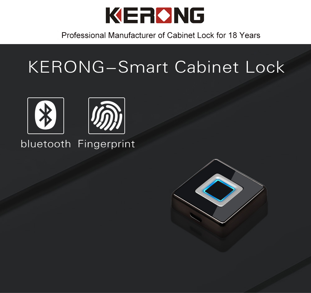 KERONG School Locker Rooms Fingerprint Remote Control Locker Lock