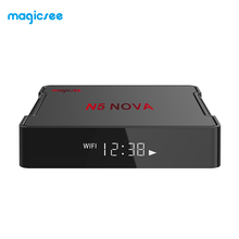 Magicsee N5 nova RK3318 <span class=keywords><strong>android</strong></span> 9.0 Top display a led 4K <span class=keywords><strong>android</strong></span> TV box 4gb di ram 32gb di rom <span class=keywords><strong>android</strong></span> <span class=keywords><strong>IPTV</strong></span> internet tv box <span class=keywords><strong>player</strong></span>