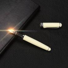 40 @ роскошный бренд Jinhao X750, серебристая перьевая ручка из нержавеющей стали, перьевая ручка среднего размера 18KGP, перьевые ручки для школы, оф...(Китай)
