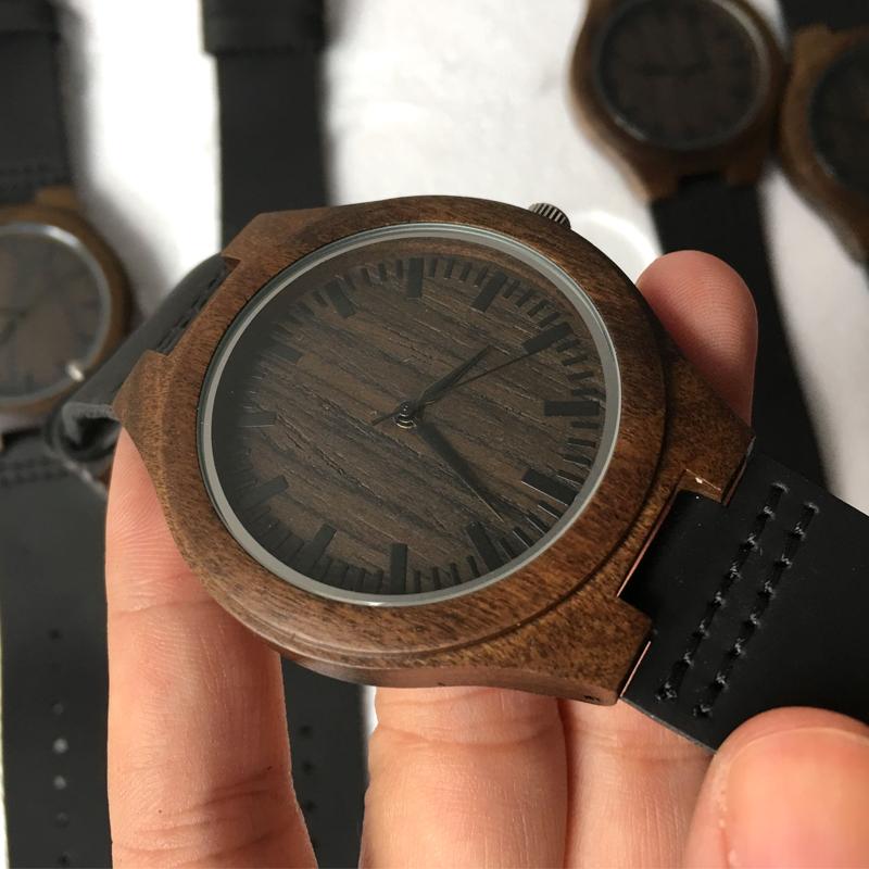 超薄型木製腕時計ブレスレットオム企業ユニセックス軍事クォーツカジュアル竹男の高級時計