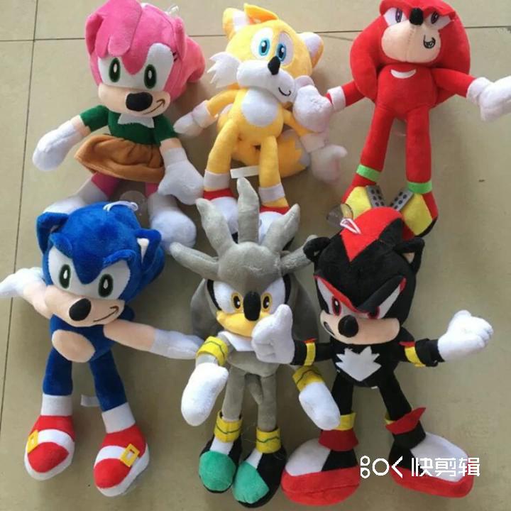 מכירה לוהטת אנימה סוניק בפלאש צעצועי Custom Kawaii בפלאש ממולא צעצוע סופר סוניק צעצועים