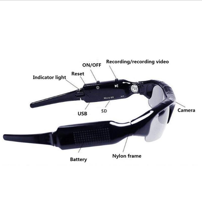 패션 새로운 야외 하이킹 스포츠 안경 마이크 스마트 카메라 선글라스 헤드셋 스마트 선글라스