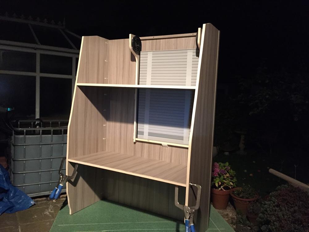 Tambour Door 350mm X 500mm Solid Silver plastic tambour door slats for RV cabinet