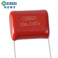 P=15mm 630v Starting New And Original Cbb21 22 334j 400v Box-type Metalliazed Polyester Film P10mm H4 Box Lomg Life Capacitor