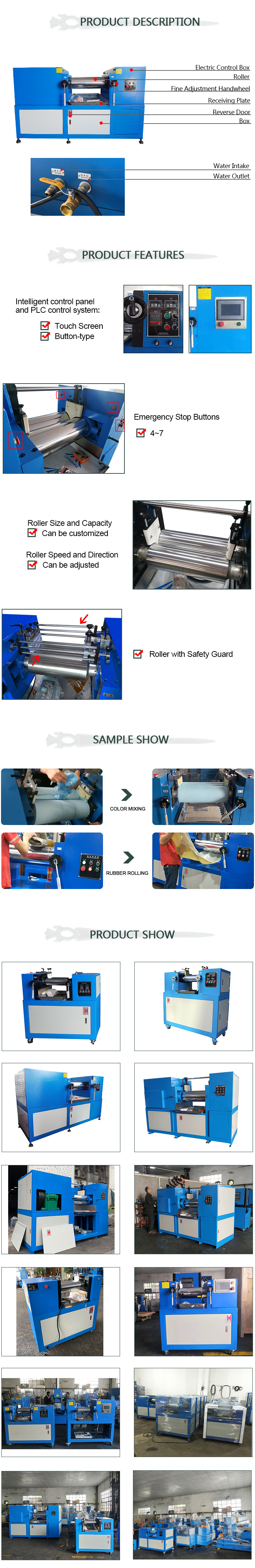 12inch 14inch Used Lab Rubber Mixing Mill Price