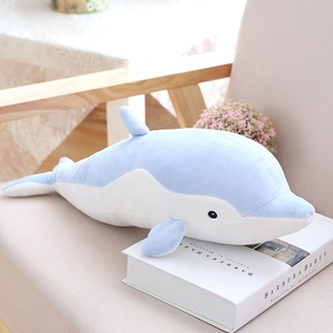 Drop shipping soft colorful plush dolphin stuffed animal marine plush toys dolphin for gifts decoration pillow cushion