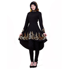 Dubai Abaya New Design Trade Black Gold Printed Islamic Clothing Muslim Dress Abaya