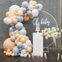 Balloon garland arch kit 16 feet 5 meters long white and gold latex balloon wedding birthday bachelor party decoration