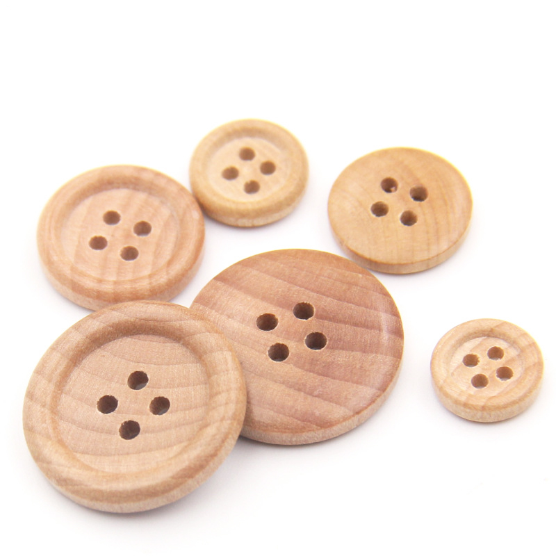 Low MOQ stock fancy sweater clothing wooden buttons for clothes