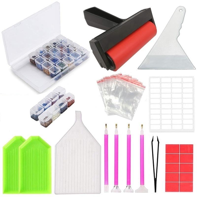 5D алмазная живопись инструменты и аксессуары наборы Алмазная вышивка коробка для взрослых или детей