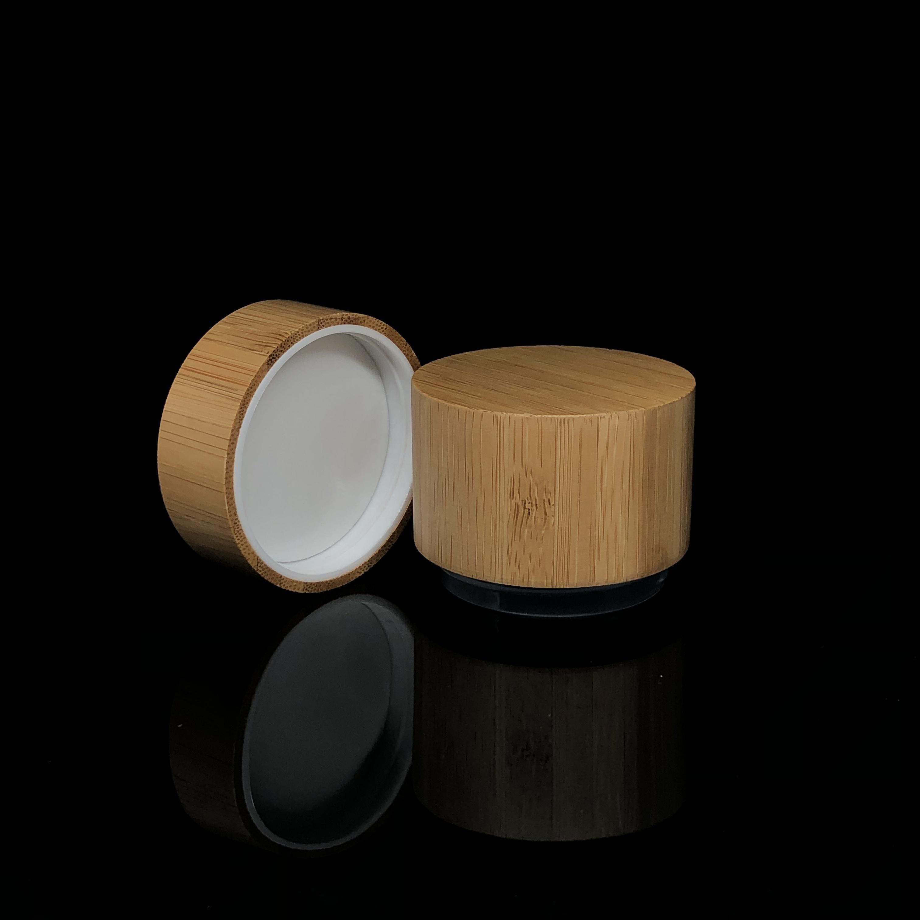 Umweltfreundliche Leer Nachfüllbar Container Lip Balm Auge Creme Lagerung Verpackung Bambus Kunststoff Glas mit Schraube Kappe
