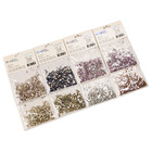 Nail Nail Rhinestones Nail Accessories 8 Packs/Set Multicolor Flatback HotFix Nail Art Crystal Rhinestones Shiny Mixed Sizes AB Glass Decorations Accessories Tool
