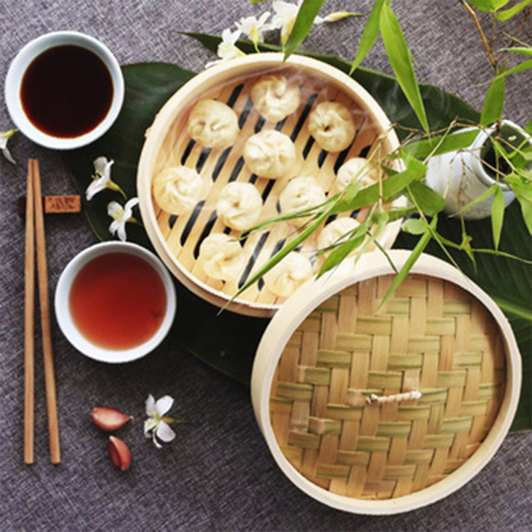 Hot selling Eco-friendsly wholesale bamboo rice steamer food steamer