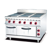 Hotel Restaurant Stainless Steel Heavy Duty Commercial Electric Range With Electric Oven