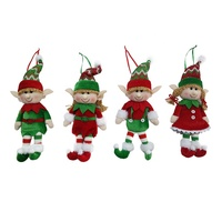 High Quality 5 inch Stuffing Mini Elves Toys Hanging Ornament Plush Christmas Decoration Elf Doll