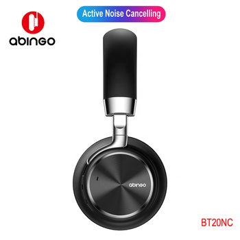 Abingo ANC Metallic Over-ear Bluetooth Bass Headphone  2019 New Factory Wholesale Stereo Hifi Sound Headset