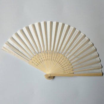 New Fashion bamboo hand fan wedding gift lace printed Chinese folding fan