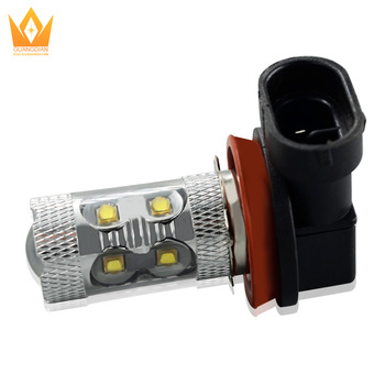Tcart 3535 CREE 10led chipset 700LM LED Front Fog Driving Light H11 Car Head Light Lamp Bulb white 12V 50W LED fog light