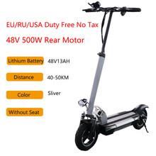 48V 500W электрический скутер 10 дюймов ЖК-дисплей Литиум батарея 48KMH дальний скейтборд скутер электрический взрослый E скутер(Китай)