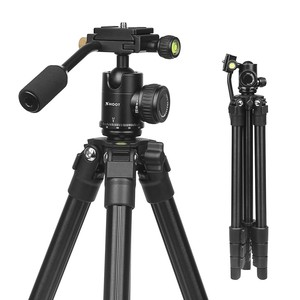 SHOOT hot sales Portable Traveling Tripod and Head with axial inversion for anodize axdation leg