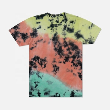 TUOZHEN summer tie dye custom printing custom printing mens tie dye 100% cotton Screen print t-shirt