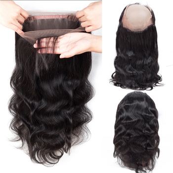 Wholesale Hair Vendors Body Wave 360 Lace Frontal Closure Raw Mink Brazilian Human Hair Extensions Virgin Cuticle Aligned Hair