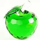 Glass Apple Model Coloured K9 Crystal Apple Craft for Christmas Decoration