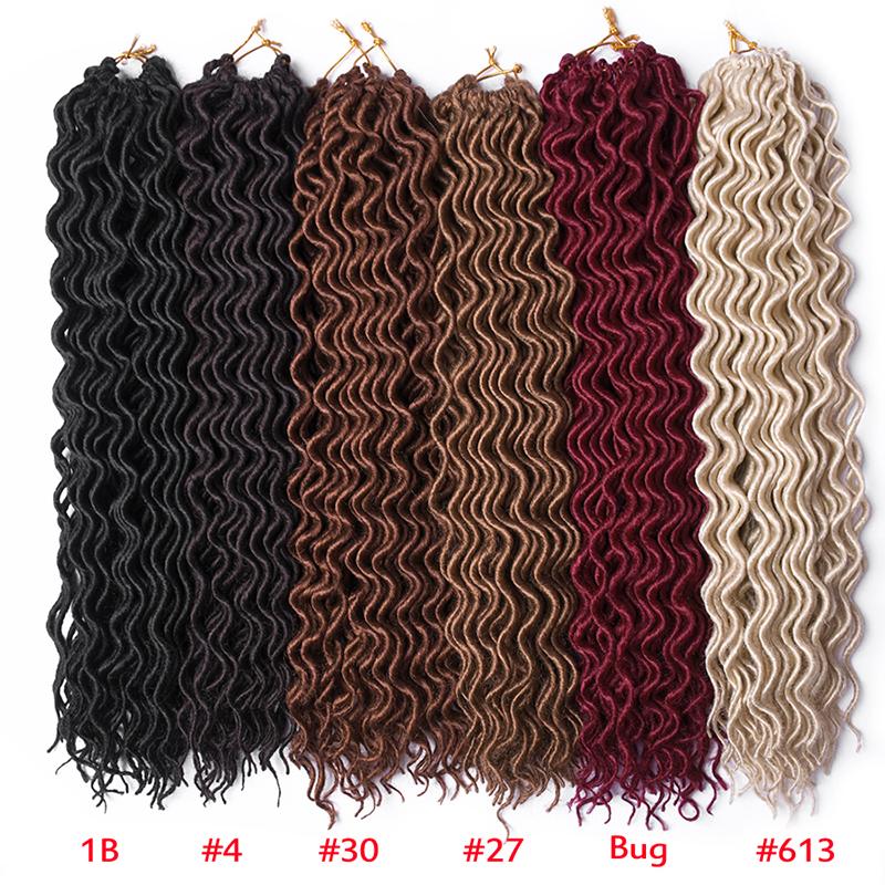 Synthetic Curly Crochet Braids Hair, Faux Locs Crochet Twist Hair 95g Dreadlock Hair