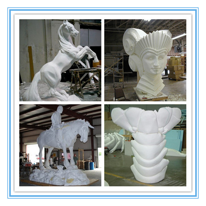 Big rotary axis 3d foam eps styrofoam carving 4 axis cnc router