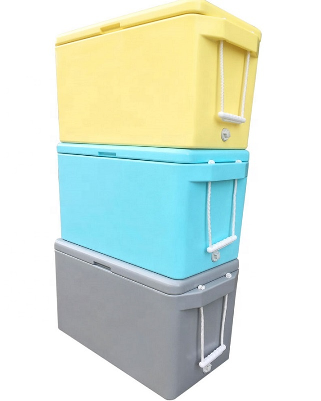 Durable Cheap Custom Color Rotomolded frozen shrimp box LLDPE fish Chilly Ice Bin Cooler
